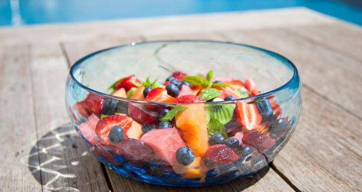 Salade glas schaal